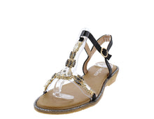 Load image into Gallery viewer, AA98 Black Women's Sandal - Wholesale Fashion Shoes