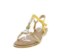 Load image into Gallery viewer, AA98 Yellow Women's Sandal - Wholesale Fashion Shoes ?id=16684393332780