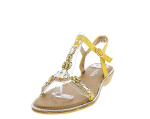 AA98 Yellow Women's Sandal - Wholesale Fashion Shoes ?id=16684393332780