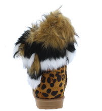 Load image into Gallery viewer, Adak Leopard Faux Fur Pull On Kids Boot - Wholesale Fashion Shoes ?id=18108263727148