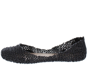 Alaska9 Black Geometric Laser Cut Dorsay Jelly Ballet Flat - Wholesale Fashion Shoes ?id=2091042209857
