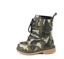 Load image into Gallery viewer, ALYSON01KA CAMOUFLAGE COMBAT INFANT BOOT