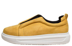 Billie Mustard Split Front Slide On Sneaker Flat