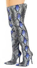 Load image into Gallery viewer, Bloom1 Blue Snake Women's Boot