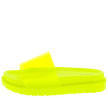 Load image into Gallery viewer, Bossy08 Yellow Lucite Open Toe Chunky Flat Sandal - Wholesale Fashion Shoes