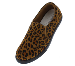 Cali1 Leopard Round Toe Slip On Loafer Flat