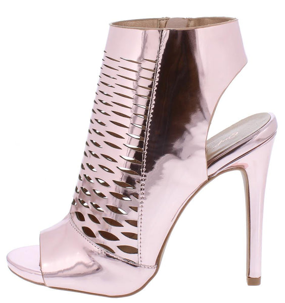 Cece04x Rose Pink Peep Toe Cut Out Laser Cut Stiletto Heel - Wholesale Fashion Shoes ?id=12010333306945