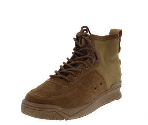 Classic1 Tan Dual Rear Zip Lace Up Sneaker Boot