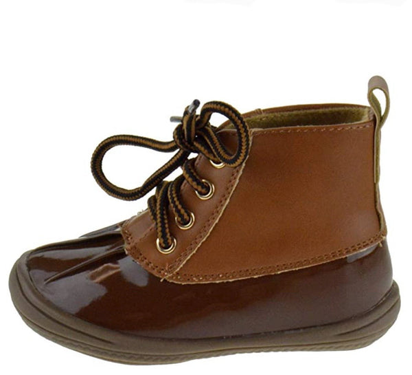 Ducko1a Tan Lace Up Ankle Duck Infants Boot - Wholesale Fashion Shoes