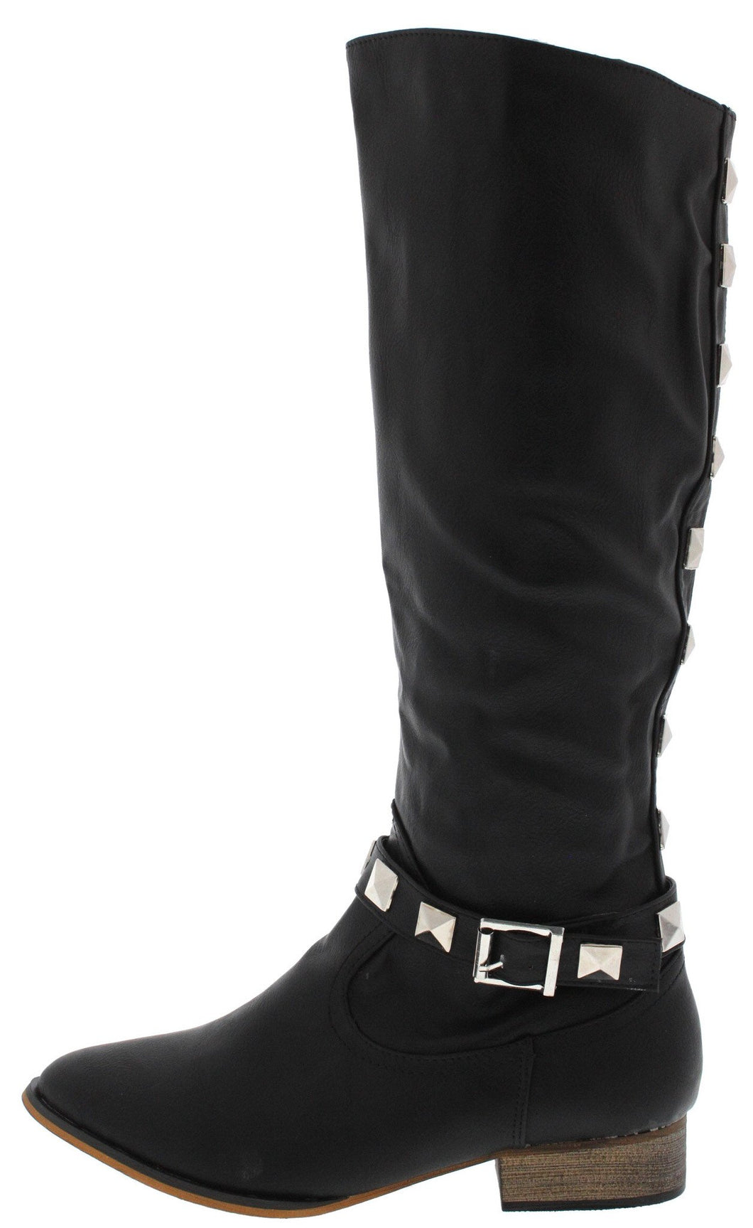 Dalton2 Black Studded Riding Boot