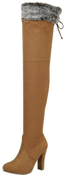 Dasiah11 Tan Women's Boot - Wholesale Fashion Shoes
