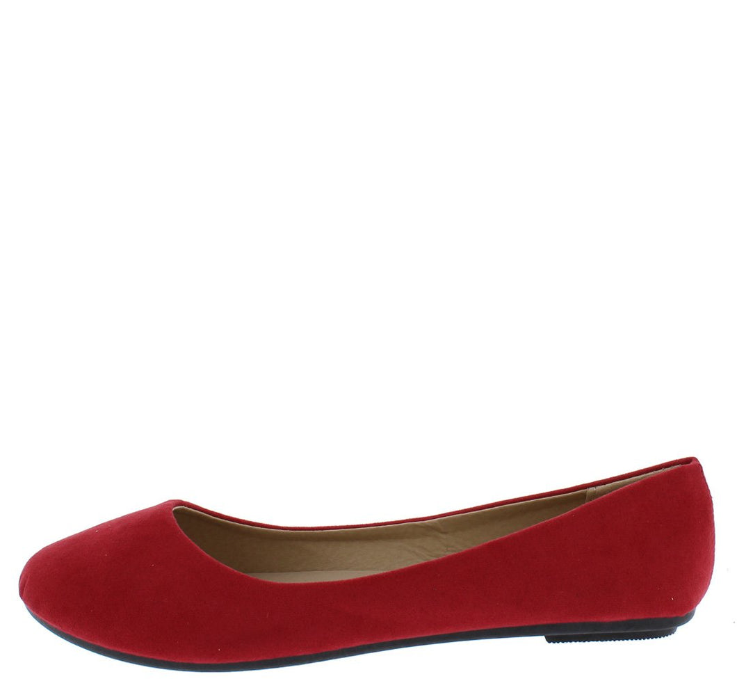 Demi01 Red Round Toe Ballet Flat - Wholesale Fashion Shoes ?id=3591938768961