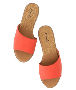 Desmond22X Blood Orange Nubuck Pu Open Toe Mule Sandal