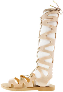 Fresh62 Nude Lace Up Jelly Gladiator Sandal