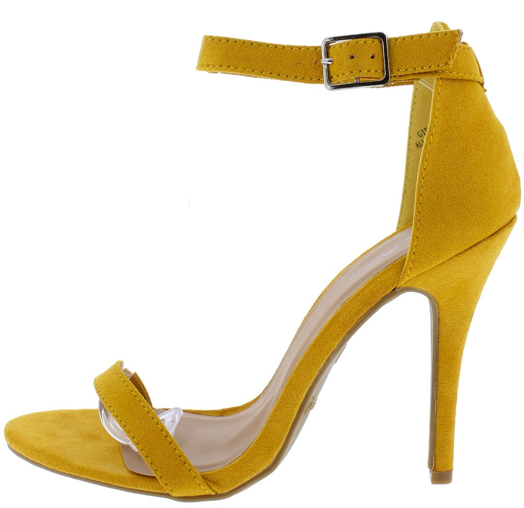 Girltalk11m Mustard Open Toe Ankle Strap Stiletto Heel - Wholesale Fashion Shoes ?id=11981846413377