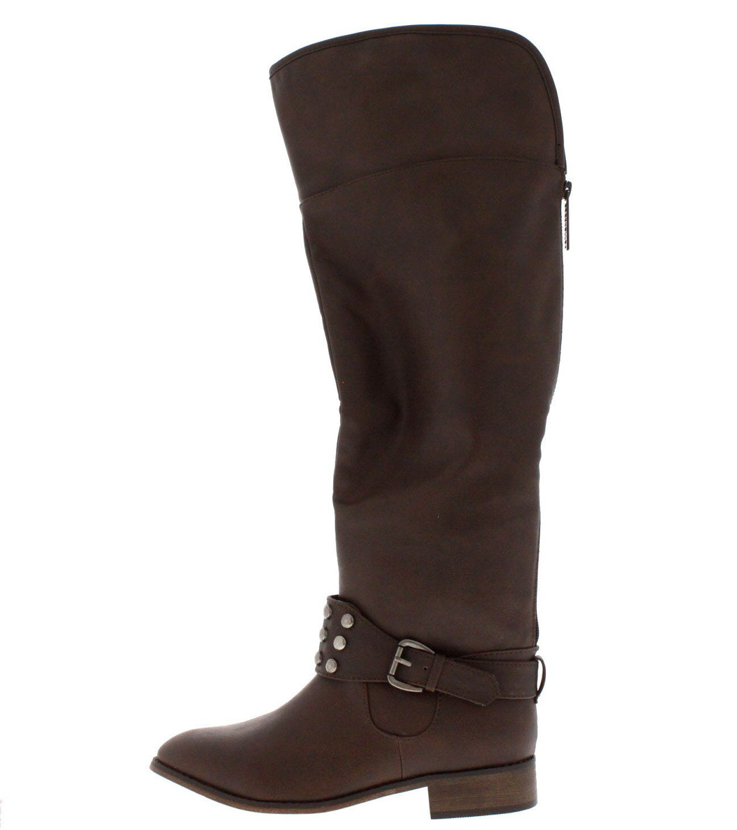 Herley11 Brown Studded Riding Boot