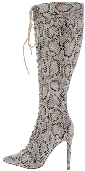 Harbor Brown Snake Women's Boot - Wholesale Fashion Shoes
