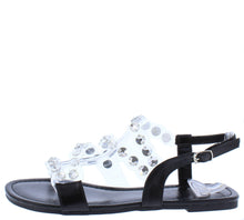 Load image into Gallery viewer, Maria204 Black Open Toe Lucite Rhinestone Strap Sandal - Wholesale Fashion Shoes ?id=16815389671468