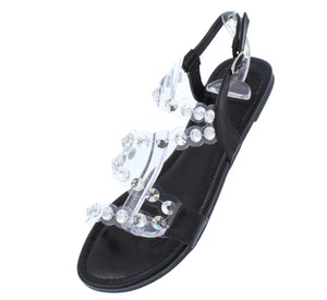 Maria204 Black Open Toe Lucite Rhinestone Strap Sandal - Wholesale Fashion Shoes ?id=16815389704236