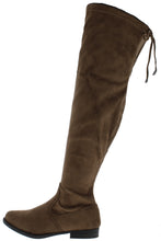 Load image into Gallery viewer, Isla1 Taupe Drawstring Over The Knee Boot - Wholesale Fashion Shoes