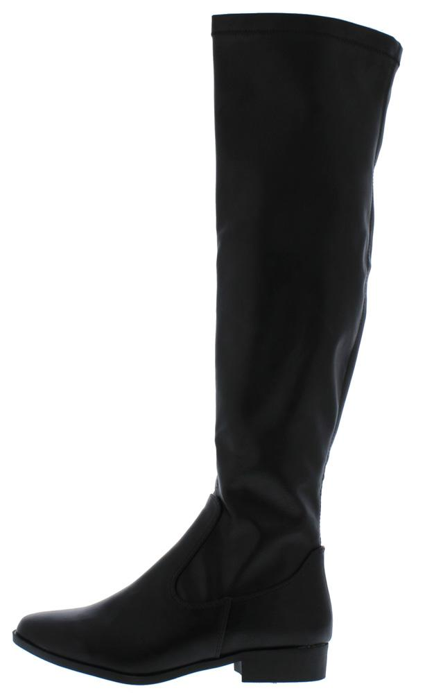 Jo1 Black Round Toe Over The knee Riding Boot