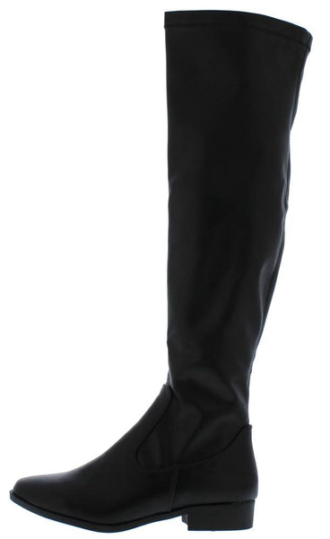 Jo1 Black Round Toe Over The knee Riding Boot - Wholesale Fashion Shoes ?id=12055618781249