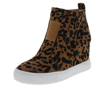 Load image into Gallery viewer, Jaira2 Tiger Leopard Wedge Sneaker Ankle Boot