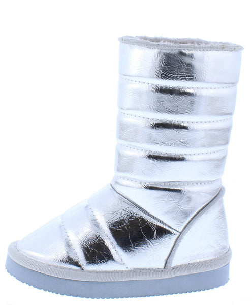 Donna233 Silver Kids Boot - Wholesale Fashion Shoes