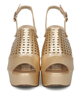 Kama02 Champagne Peep Toe Laser Cut Slingback Wedge - Wholesale Fashion Shoes ?id=3729197662273