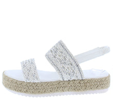 Load image into Gallery viewer, Karli35 White Women's Sandal - Wholesale Fashion Shoes
