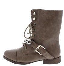 Load image into Gallery viewer, Kellie4 Taupe Chain Combat Boot