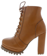 Load image into Gallery viewer, Key93 Camel Pu Women's Boot - Wholesale Fashion Shoes