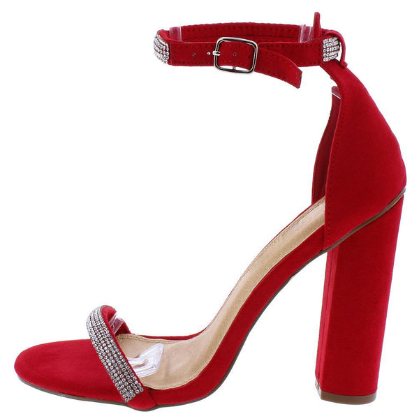 Andrea213 Red Embellished Open Toe Ankle Strap Heel - Wholesale Fashion Shoes ?id=13385386360876