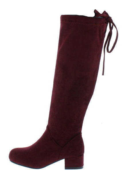 Lucy1k Wine Kids Boot - Wholesale Fashion Shoes