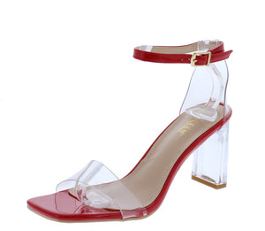 Madena1 Red Women's Heel