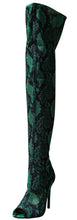 Load image into Gallery viewer, Cindy045 Green Fabric Women's Boot