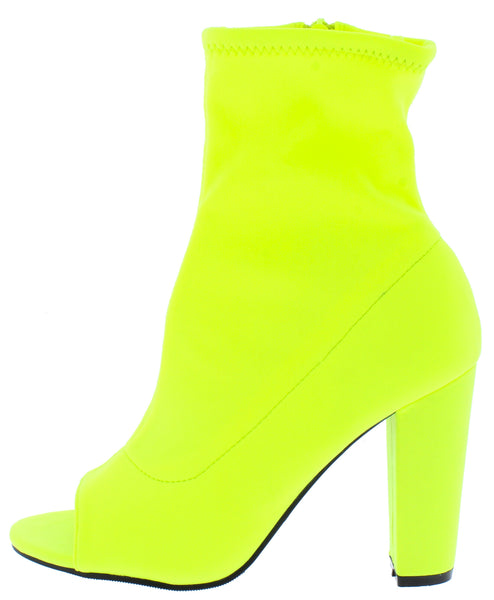 Mania45 Neon Yellow Women's Boot - Wholesale Fashion Shoes ?id=16760733728812
