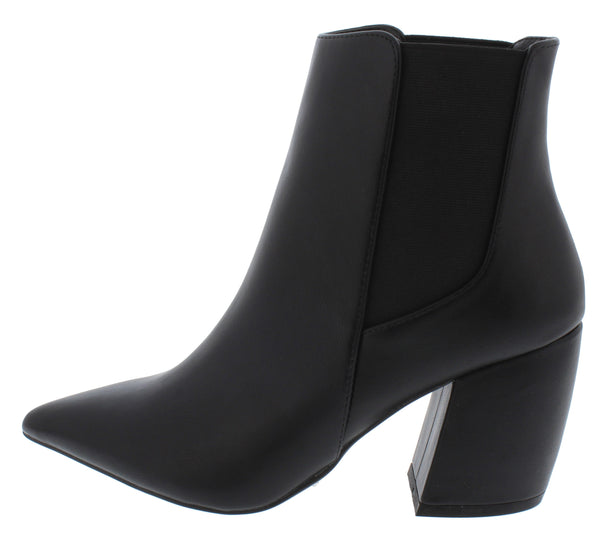 Milkway07a Black Pu Women's Boot - Wholesale Fashion Shoes