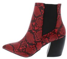 Load image into Gallery viewer, Milkway07a Red Black Snake Pu Women's Boot - Wholesale Fashion Shoes ?id=18091885232172