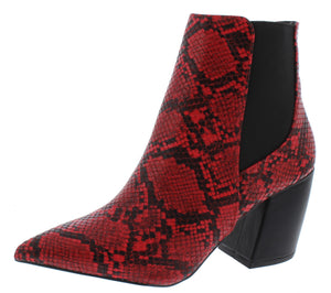 Milkway07a Red Black Snake Pu Women's Boot - Wholesale Fashion Shoes ?id=18091885264940