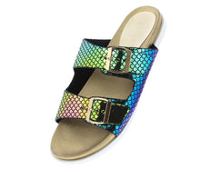 Load image into Gallery viewer, Mission72 Mermaid Open Toe Dual Buckle Strap Slide Sandal