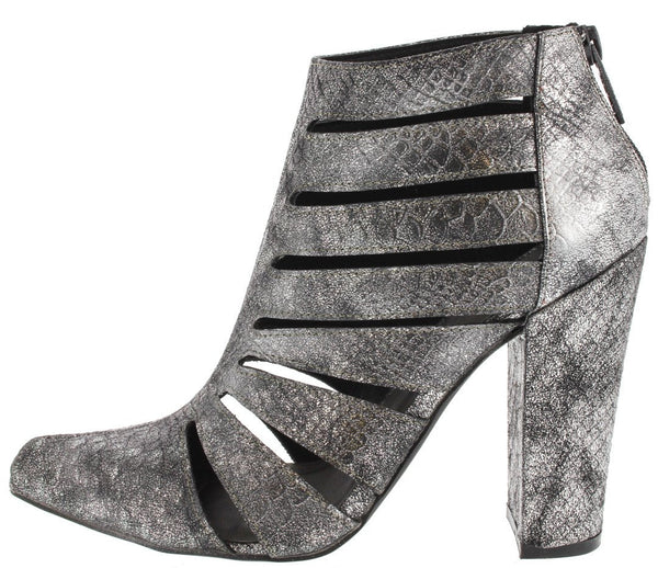 Shea Pewter Snake Cut out Heel