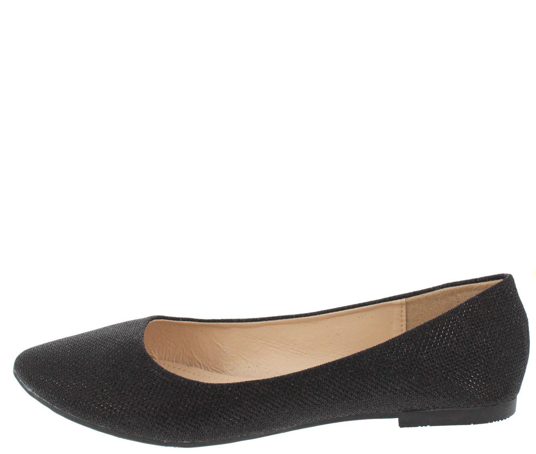 Mylie04 Black Shimmer Almond Toe Flat - Wholesale Fashion Shoes ?id=1063520445