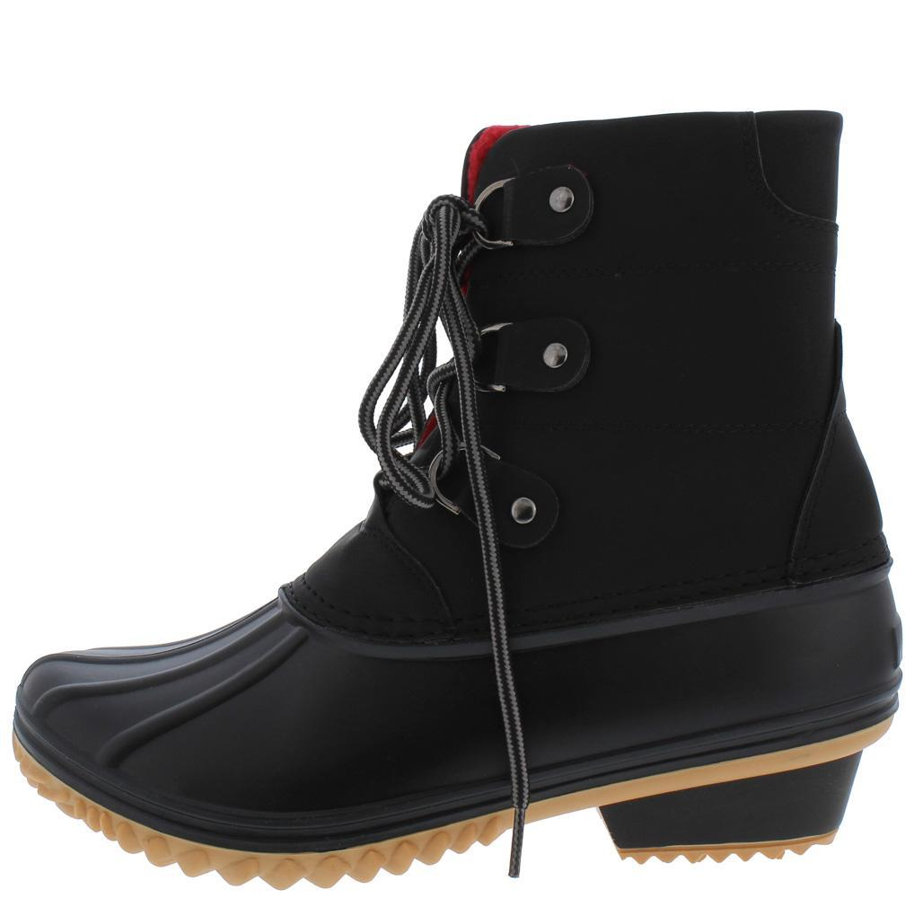 Nova02 Black Lace Up Snow Ankle Boot