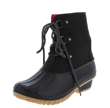 Load image into Gallery viewer, Nova02 Black Lace Up Snow Ankle Boot