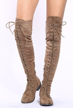 Load image into Gallery viewer, Oksana308w Taupe Suede Women's Boot - Wholesale Fashion Shoes ?id=17960525889580