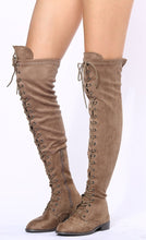 Load image into Gallery viewer, Oksana308w Taupe Suede Women's Boot - Wholesale Fashion Shoes ?id=17960525987884