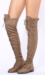 Oksana308w Taupe Suede Women's Boot - Wholesale Fashion Shoes ?id=17960525987884