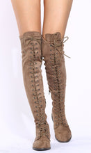 Load image into Gallery viewer, Oksana308w Taupe Suede Women's Boot - Wholesale Fashion Shoes ?id=17960525955116