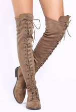 Load image into Gallery viewer, Oksana308w Taupe Suede Women's Boot - Wholesale Fashion Shoes ?id=17960525922348